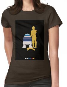 Androids (Black Background) Womens Fitted T-Shirt