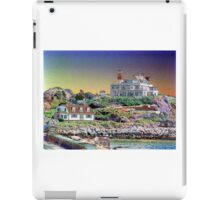 Digital Colouring - beach houses-  summers over  iPad Case/Skin