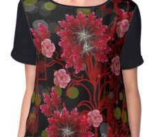 Red Ginger Design Chiffon Top