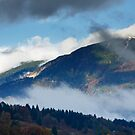 View across to Saint Catherine's Church near Bled by Ian Middleton