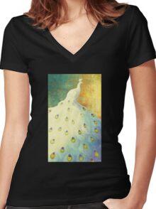 White Peacock Women's Fitted V-Neck T-Shirt
