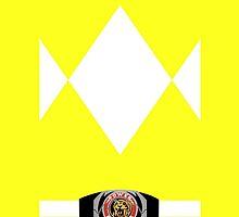 Yellow Ranger Iphone Case by LumpyHippo