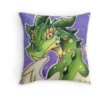 Cute Green Dragon  Throw Pillow