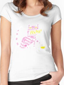 Now Cat Women's Fitted Scoop T-Shirt