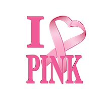 I Heart Pink Photographic Print