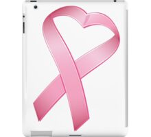 Pink Heart Cancer Ribbon iPad Case/Skin