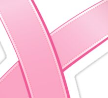 Pink Heart Cancer Ribbon Sticker