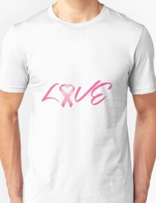Love Pink Breast Cancer Ribbon T-Shirt