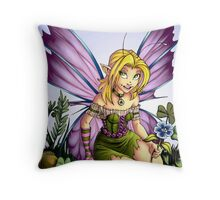 Clover Fairy Throw Pillow Throw Pillow