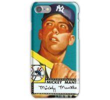 Mickey Mantle New York Yankees Baseball MLB Rookie Card iPhone Case/Skin