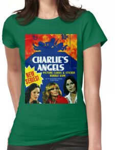 Vintage Charlie's Angels Topps Trading Cards Box Womens Fitted T-Shirt