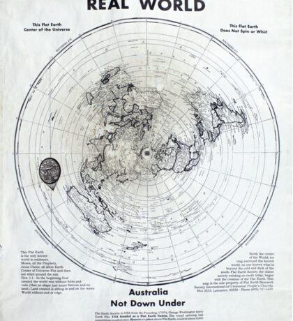 Modern Flat Earth Theory Map of the World Sticker