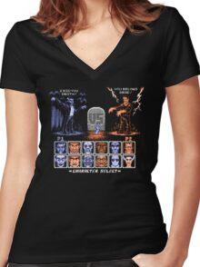 Classic Monster Fighter Women's Fitted V-Neck T-Shirt