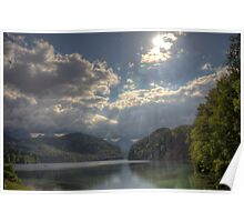 Forggensee Lake Schwangau Germany Poster