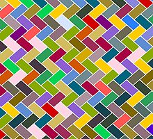 Colourful Mosaic Repeating Pattern by piedaydesigns
