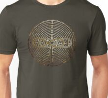 Lemniscate Double Infinity on Labyrinth Chartres antique metal Unisex T-Shirt