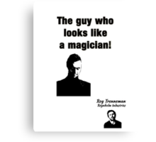 "The IT Crowd Inspired Minimalist Art Print Quote, ""the guy who looks like a magician."" Typography Wall Hanging  Canvas Print"