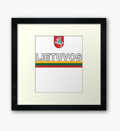 Lithuanian Lietuvos National Soccer & Sport Framed Print