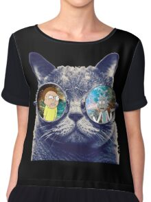 Rick and Morty Cat Chiffon Top