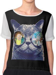 Rick and Morty Cat Chiffon Top