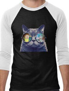 Rick and Morty Cat Men's Baseball ¾ T-Shirt