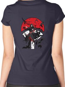 Dark Brother With His Crows Women's Fitted Scoop T-Shirt