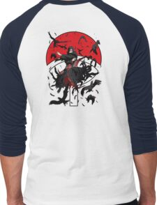 Dark Brother With His Crows Men's Baseball ¾ T-Shirt