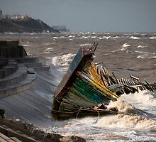 Cleveleys Wreck  by Irene  Burdell