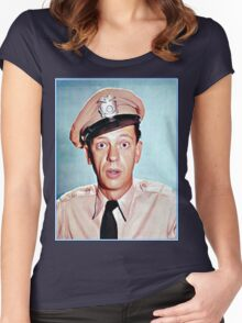 Barney Fife in color Women's Fitted Scoop T-Shirt