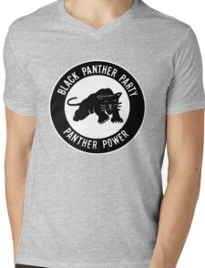 The Power of Black is Panther Mens V-Neck T-Shirt