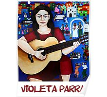 """Violeta Parra  and the song """"Black wedding""""  Poster"""