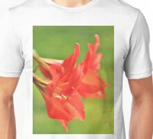 Red Flower Romance - Vibrant Beauty Unisex T-Shirt