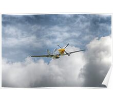 P51 Mustang - Cadillac of the Sky Poster