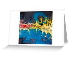 ROMAN SKY abstract painting  Greeting Card