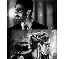 Black and White Olicity Portraits Photographic Print