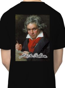 Ludwig van Beethoven, German composer and pianist. Portrait, on Black Classic T-Shirt