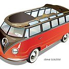 Samba Bus Old Style VW Bus by Frank Schuster