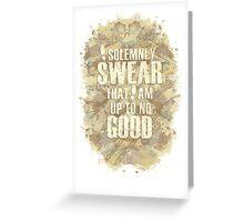 Up To No Good Greeting Card