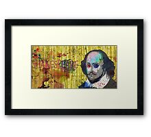 William Shakespeare - Watercolor Version  Framed Print