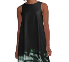 Natural Abstract 2 (Black and Subterranean variant) A-Line Dress