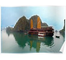 """Halong Ginger"" sails in the Gulf of Tonkin, North Vietnam Poster"