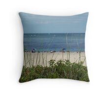 Lighthouse Beach, Chatham Throw Pillow