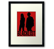 Red and Liz Silhouettes  Framed Print