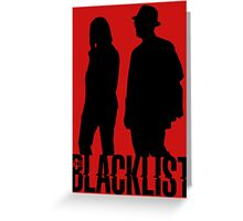 Red and Liz Silhouettes  Greeting Card