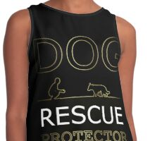 DOG RESCUE PROTECTOR DOG LOVERS GIFT Contrast Tank