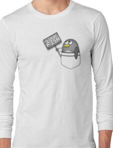 Pocket penguin wants fish Long Sleeve T-Shirt