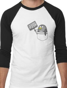 Pocket penguin wants fish Men's Baseball ¾ T-Shirt