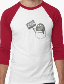 Pocket penguin wants fish Men's Baseball ¾ T-Shirt