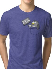 Pocket penguin wants fish Tri-blend T-Shirt