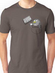 Pocket penguin wants fish Unisex T-Shirt